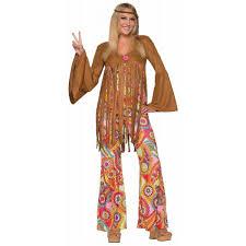 hippie jumpsuit groovy sweetie hippie costume fringe vest jumpsuit flower