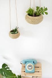 diy seagrass hanging planters burkatron