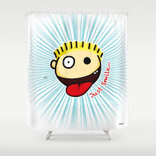 Pow Shower Curtain by Childrens Comics And Drawing Shower Curtains Society6