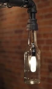beer bottle light fixture genesis industrial steunk chandelier beer bottle light fixture
