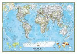 World Political Map Wall Mural Miller Projection Desktop Background