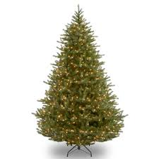 national tree company 6 5 ft noble fir tree with clear lights