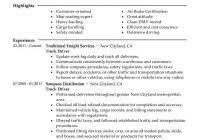 100 company driver resume student guide to writing college