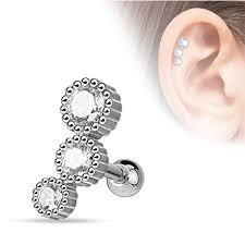 helix earing bodyj4you 9pcs tragus stud helix earring set surgical steel 16g