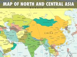 Russia And Central Asia Map by Soc Sci By Yanni Jose Francisco