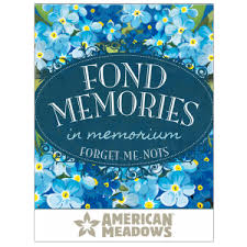 forget me not seed packets funeral seed packets