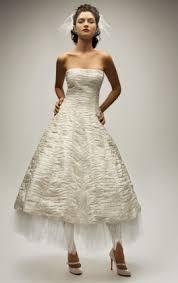 vintage cheap tea length ivory wedding dress sang maestro