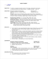 computer science resume sle computer science resume 8 exles in word pdf
