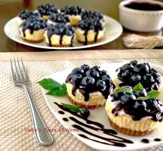 mini blueberry cheesecakes valya u0027s taste of home