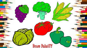 baby coloring fruits and vegetables grape cauliflower roasted