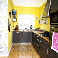 Kitchen Yellow Walls White Cabinets by Interesting 30 Blue Yellow Kitchen Decorating Ideas Inspiration