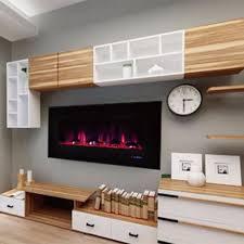 recessed electric fireplace binhminh decoration