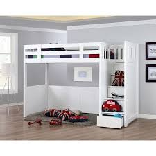Loft Bunk Bed With Stairs Loft Bed With Desk And Stairs Search Kid S Room