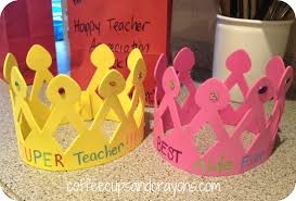 happy appreciation week coffee cups and crayons