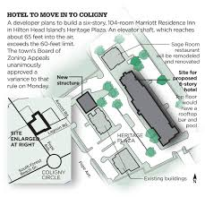 update marriott residence inn planned for heart of coligny area