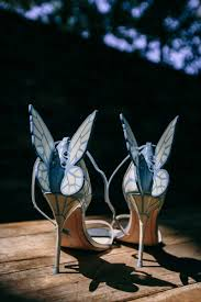 shoes bags photos blue high heels with butterfly wings