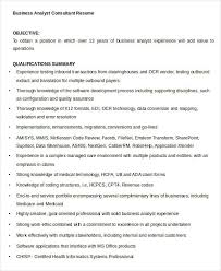 Business Consultant Resume Simple Business Resume Templates 19 Free Word Pdf Documents