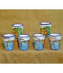 bicchieri in ceramica 6 bicchieri in ceramica paesaggio per limoncello sapori e colori