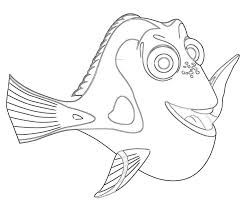 finding nemo dory coloring pages kids coloring
