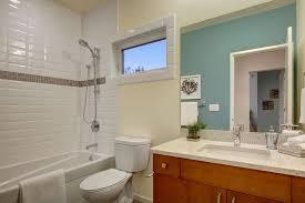 craftsman bathroom with drop in bathtub flush in seattle
