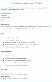 Resume Builder Org 13 Business Administration Resumes Budget Template Letter