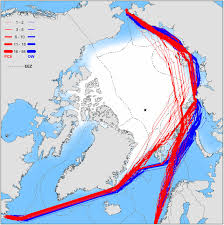 First Class Mail Time Map New Trans Arctic Shipping Routes Navigable By Midcentury