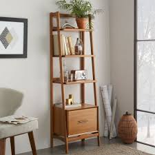 Narrow Bookcase by Mid Century Bookshelf Narrow Acorn West Elm Uk