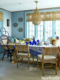beachy dining room tables winsome coastal dining room blue and