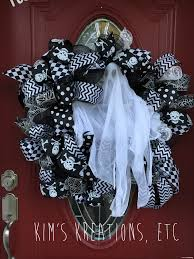 Black Halloween Wreath Wreath Halloween Wreath Door Wreath Halloween Ghost Wreath