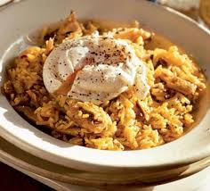 Dinner Egg Recipes Spiced Rice With Kippers U0026 Poached Eggs Recipe Bbc Good Food