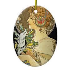 alphonse mucha ornaments keepsake ornaments zazzle