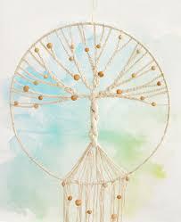 handmade tree of dreamcatcher wall hanging