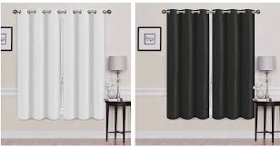 Thermal Energy Curtains 2 Panels Thermal Energy Saving Madonna Blackout Curtains Yugster