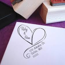 wedding invitations return address wedding return address st free shipping swirly heart custom