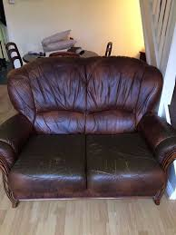 Wooden Sofas Brown Italian Wooden Sofas In Rayleigh Essex Gumtree