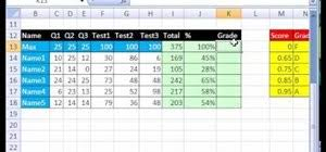 Grade Book Template Excel How To A Gradebook Based On Percentage Scores In Excel