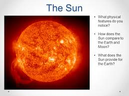 comparing the sun earth and moon ppt