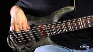 fanned fret 6 string bass ibanez fan fret basses youtube