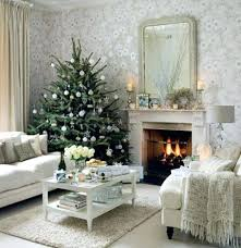 decorating a fireplace without mantel for christmas white ideas