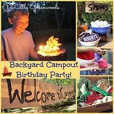Backyard Camping Ideas Camping Birthday Party Fun
