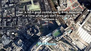 beer is not a good cocktail party drink especially in a home