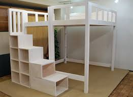 Marvelous Queen Loft Bed With Stairs  Best Ideas About Queen - King size bunk beds