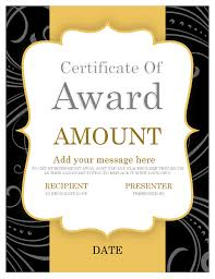 gold ribbons gift certificate award gold ribbon office templates