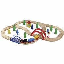 carousel train table set maxim enterprise 40 piece wooden train set walmart com