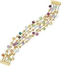 multi colored gold bracelet images Marco bicego paradise 5 strand gemstone bracelet jpg