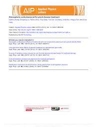 Plant Disease Journal - atmospheric cold plasma jet for plant disease treatment pdf