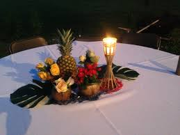 theme centerpiece hawaiian themed centerpiece other events hawaiian
