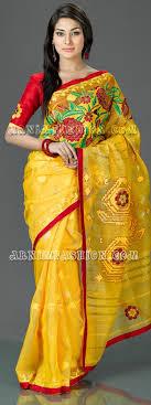 bangladeshi jamdani saree online yellow jamdani bangladeshi yellow jamdani arnimgift