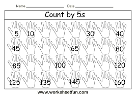 Count By 5 Worksheets Printable Free Worksheet Counting By 5 Chart Wosenly Free Worksheet