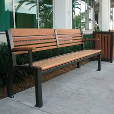 Ipe Bench Public Bench Traditional Ipe Cast Aluminum Mlb700 Maglin